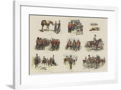 The Military Manoeuvres, Notes in and About the Camps--Framed Giclee Print