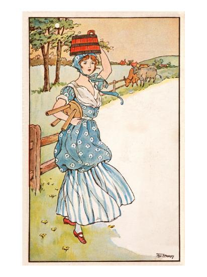The Milk Maid's Morning--Giclee Print