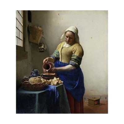 The Milkmaid, 1660-Johannes Vermeer-Giclee Print