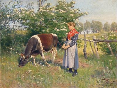 The Milkmaid, 1892-Oskar Frenzel-Giclee Print
