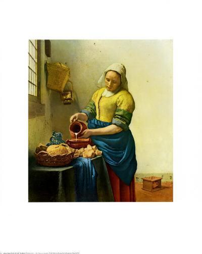 The Milkmaid, c.1658-1660-Johannes Vermeer-Art Print