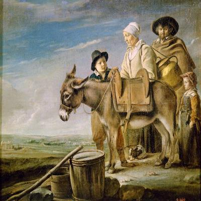 The Milkmaid's Family, 1641-Louis Le Nain-Giclee Print
