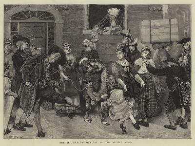 The Milkmaids' May-Day in the Olden Time-Sir James Dromgole Linton-Giclee Print