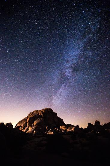 The Milky Way Above a Granite Dome in Joshua Tree National Park-Ben Horton-Photographic Print