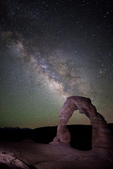 The Milky Way and Delicate Arch in Arches National Park-Dmitri Alexander-Photographic Print