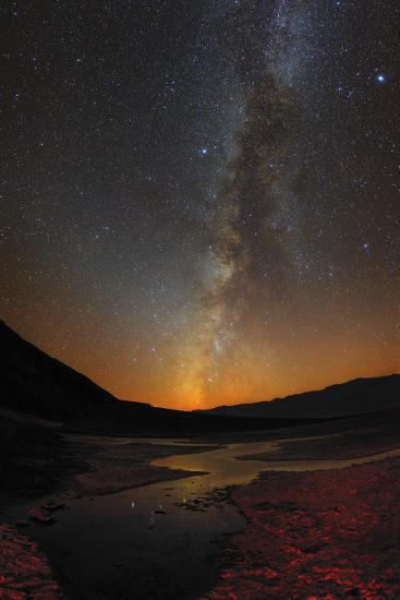The Milky Way and Zodiacal Light over Badwater Basin in Death Valley-Babak Tafreshi-Photographic Print