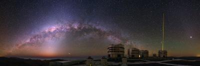 The Milky Way and Zodiacal Light over the Very Large Telescope at the European Southern Observatory-Babak Tafreshi-Photographic Print