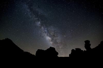 The Milky Way Arches High in the Night Sky Above Roques De Garcia in Teide National Park-Garry Ridsdale-Photographic Print