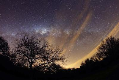 The Milky Way Behind a Rural Landscape, Mercedes, Argentina--Photographic Print