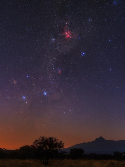 The Milky Way, Carina Nebula, Constellation Crux at Dawn over Mount Kilimanjaro and Mawenzi Peak-Babak Tafreshi-Photographic Print