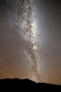 The Milky Way in Vertical Position Rising from the Horizon