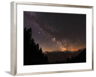 The Milky Way over Snow-Covered Austrian Alps in Tyrol, Austria-Babak Tafreshi-Framed Photographic Print