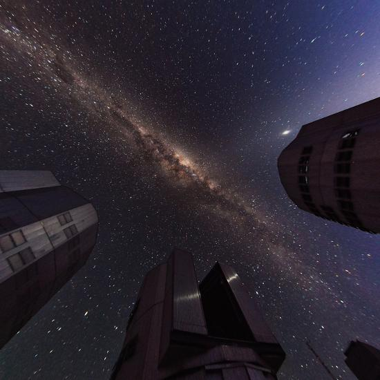 The Milky Way over the Cerro Paranal Observatory-Babak Tafreshi-Photographic Print