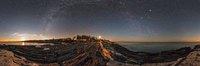 The Milky Way Photographed in a 360-Degree Panorama During Moonset over the Atlantic-Babak Tafreshi-Photographic Print