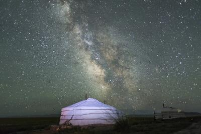 The Milky Way Rises over a Mongolian Ger in South Gobi Desert, Mongolia-Ira Block-Photographic Print