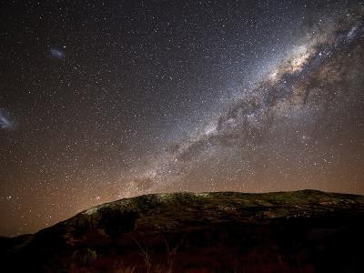 The Milky Way Rising Above the Hills of Azul, Argentina-Stocktrek Images-Photographic Print