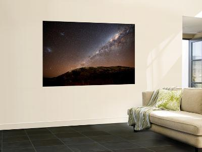 The Milky Way Rising Above the Hills of Azul, Argentina-Stocktrek Images-Giant Art Print