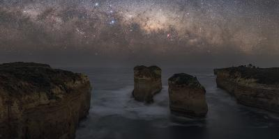 The Milky Way Sets over the Southern Ocean Coast in Port Campbell National Park-Babak Tafreshi-Photographic Print