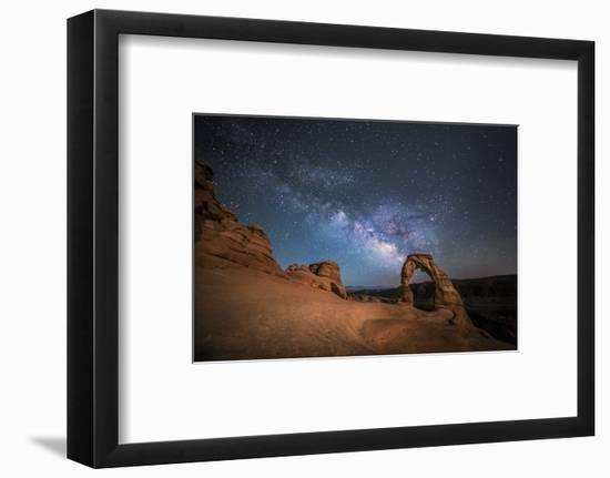 The Milky Way Shines over Delicate Arch at Arches National Park, Utah-Ben Coffman-Framed Photographic Print