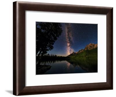 The Milky Way Shines over the Teton Range-Babak Tafreshi-Framed Photographic Print