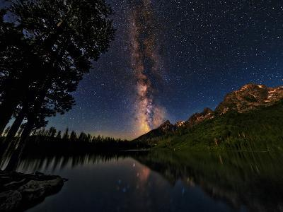 The Milky Way Shines over the Teton Range-Babak Tafreshi-Photographic Print