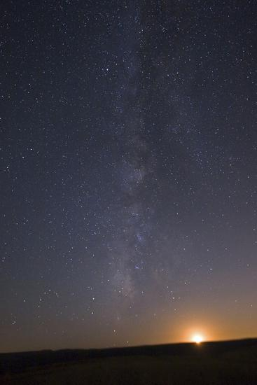 The Milky Way Stretches across the Sky as the Moon Sets-Babak Tafreshi-Photographic Print