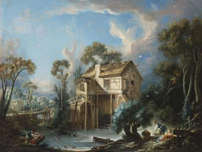 The Mill at Charenton, c.1756-Francois Boucher-Giclee Print