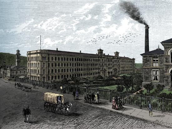 The mill at Saltaire, c1880-Unknown-Giclee Print
