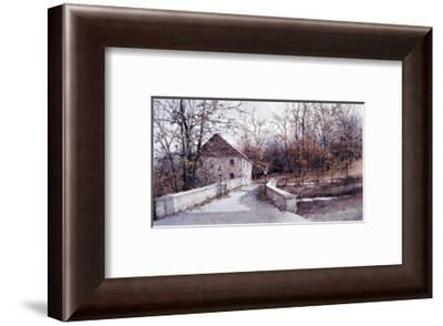 The Mill Bridge-Ray Hendershot-Framed Art Print