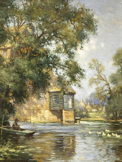 The Mill Pond, Houghton, Huntingdonshire-William Blacklock-Giclee Print
