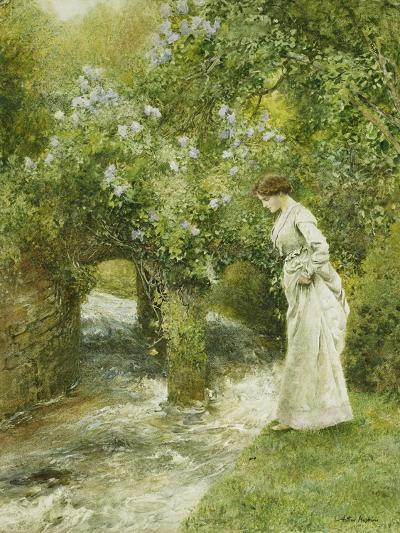 The Mill Stream in Spring-Arthur Hopkins-Giclee Print