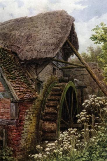 The Mill Wheel, Elmley Castle, Worcester-Alfred Robert Quinton-Giclee Print