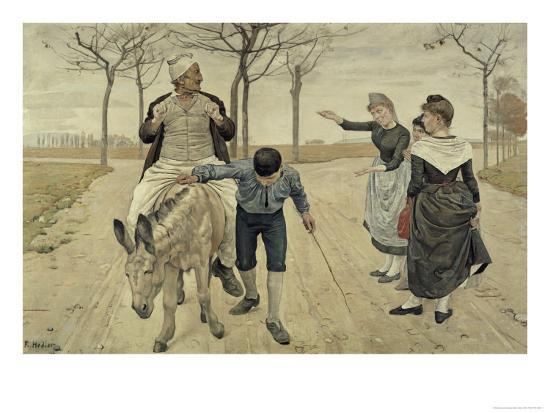 The Miller, His Son and the Donkey-Ferdinand Hodler-Giclee Print