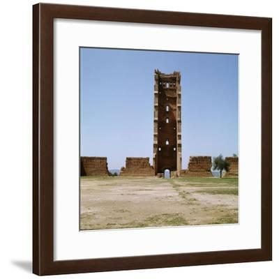 The minaret of the ruined mosque of al-Mansura-Werner Forman-Framed Giclee Print