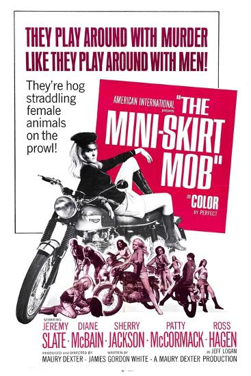 THE MINI-SKIRT MOB, Diane McBain (on motorcycle), 1968--Art Print