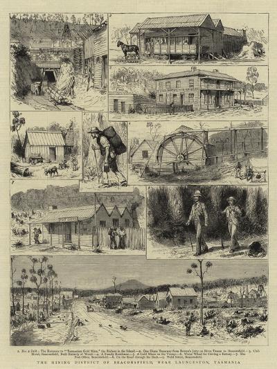 The Mining District of Beaconsfield, Near Launceston, Tasmania-Godefroy Durand-Giclee Print