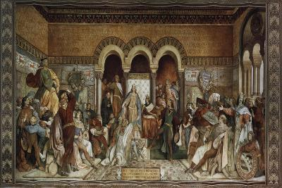 The Minstrel Contest at Wartburg Castle, 1855-Moritz Von Schwind-Giclee Print