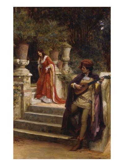 The Minstrel's Lay-George Sheridan Knowles-Giclee Print