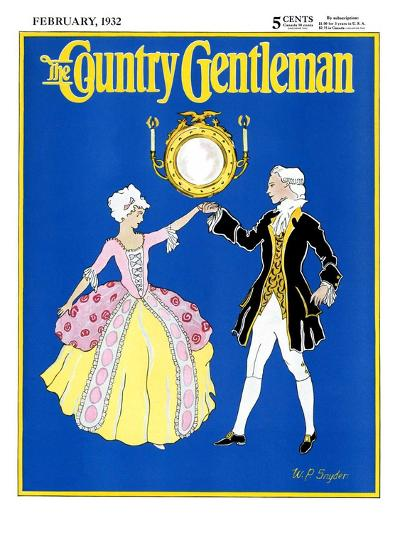 """""""The Minuet,"""" Country Gentleman Cover, February 1, 1932-W. P. Snyder-Giclee Print"""