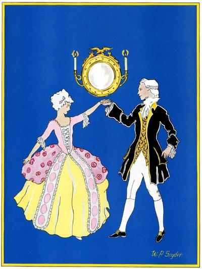 """""""The Minuet,""""February 1, 1932-W. P. Snyder-Giclee Print"""