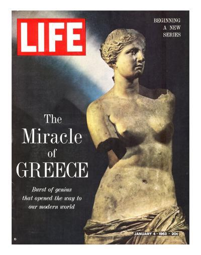 The Miracle of Greece, Statue of Aphrodite, January 4, 1963-Gjon Mili-Photographic Print