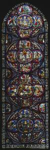 The Miracle of Notre-Dame Cathedral, Stained Glass Window