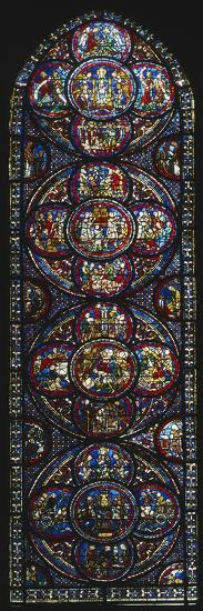 The Miracle of Notre-Dame Cathedral, Stained Glass Window--Giclee Print