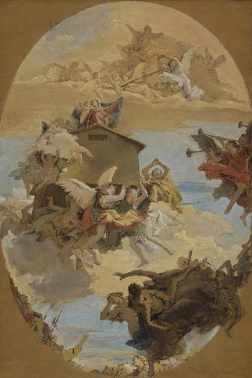 The Miracle of the Holy House of Loreto, 1743-Giovanni Battista Tiepolo-Giclee Print