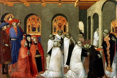 The Miracle of the Holy Sacrament, from the Predella of the Altar of the Holy Eucharist, 1423-Sassetta-Giclee Print