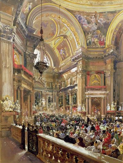 The Miracle of the Liquefaction of the Blood of Saint Januarius, 5th May 1863-Giacinto Gigante-Giclee Print
