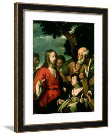 The Miracle of the Loaves and Fishes-Bernardo Strozzi-Framed Giclee Print