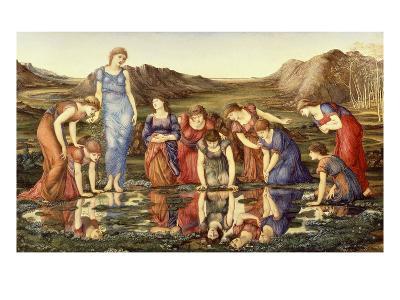 The Mirror of Venus-Edward Burne-Jones-Giclee Print