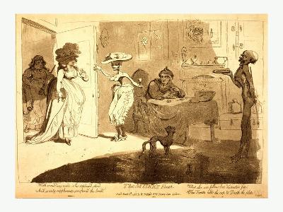 The Miser's Feast-James Gillray-Giclee Print