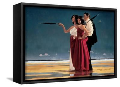 The Missing Man I-Jack Vettriano-Framed Canvas Print
